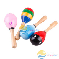 [Super Deals] New Hot Wooden Maraca Wood Rattles Kid Musical Party Favor Child Baby Shaker Toy Hot