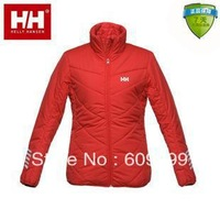 only White & Black!Helly Hansen HH  Women outdoor Thermal Wadded Jacket/Women's Outdoor Warm Coat/Windproof Cotton Jacket