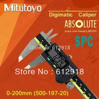 "Top/ Mitutoyo digital caliper 500-197-20 (0-200 * 0.01"" /0.001"") waterproof and oil"