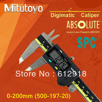 "top/  Mitutoyo digital caliper sanfeng  500-197-20 (0-200 * 0.01"" /0.001"") waterproof and oil"