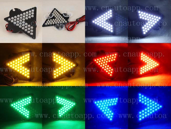 Car Third Rear Turn Signal Light LED Additional Rear Turn Signal Light Glass Acetabula - 1pcs (Small model)(China (Mainland))