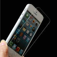 Premium Tempered Glass Screen Protector Protective Film For iPhone 5 5S 5C With Retail Package MOQ:1pcs Free Shipping