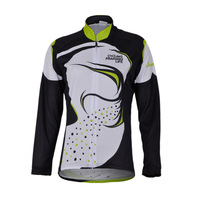 Freefisher Women's Cycling Bicycle Clothing Sport Long sleeve Fleece  Jersey  Grass Black and Green ABC610A