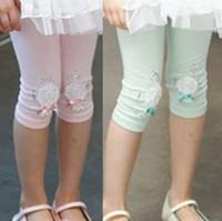 free shipping 5pcs/lot 75% cotton fashion Princess kids christmas leggings ruffled lace leggings for girls baby  leggings