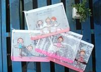 20 Pcs Wholesale Ballet Girl A5 PVC  Mesh Storage Pencil Bag Pouch Case