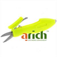 Fish Shape Portable Plastic Handle Fishing Line Scissors Cutter - Color Assorted