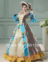 Medieval Renaissance gown queen princess dresses with hat costume Victorian Gothic/Marie Antoinette/civil warColonial Belle Ball