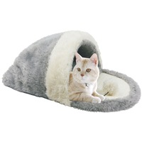 Cat Bed Pet Products  Toys Ball Kennel Hairy&Sisal Hemp&Plastic non-woven Only Cats Gray and White Color Sleeping Bag Cat House