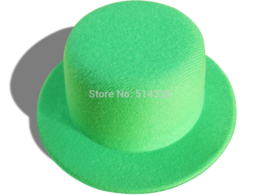 A007 Green New DIY Mini Top Hat EVA Party Church Making Craft Alligator Clips(China (Mainland))