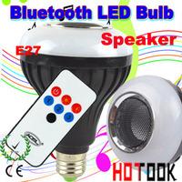 Wireless Bluetooth Speaker LED Bulb E27 5W RGB Adjustable Brightness LED Lighting Lamp Bluetooth Loudspeaker 85~265V CE ROHS