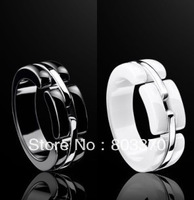 Free Shipping, ceramic ring,black ,white,women jewelry,Christmas Gift