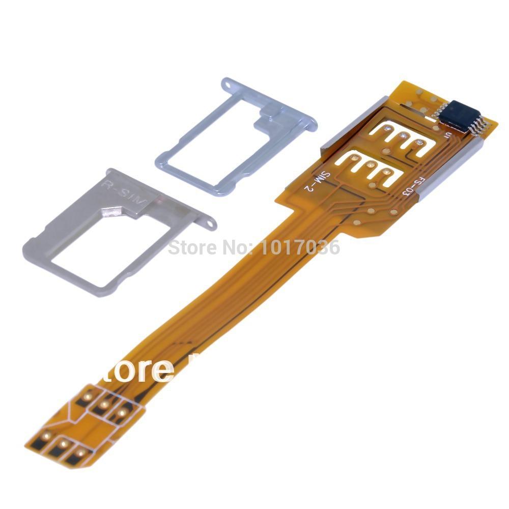 Мобильный телефон две сим-карты адаптер для iPhone 4 4S 5 5S 5C - включить iPhone использования удлиненная стандартный SIM карты бесплатная доставка