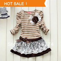 Girl Princess Dress 2013 New Fashion Brand Children Girls Dress Hot Saling Baby Kids Clothing Set
