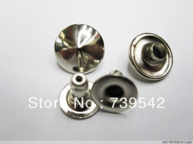200pcs 9 milímetros prata rebite rebite DIY estilo punk roupas e outros materiais de vestuário(China (Mainland))