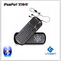 Free Shipping Russian iPazzPort Rechargeable Blacklight Touchpad Support Voice IR Remote Bluetooth Mini Wireless  Keyboard