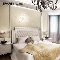 European-style living room bedroom wallpaper woven background