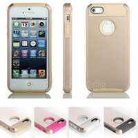 100pcs/Lot Gold PC Shockproof Dirt Dust Proof Hard Matte Cover Case For iPhone 5 5S + Screen Film +Stylus Pen DHL free shipping