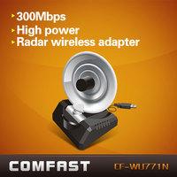 Hot saleCOMFAST CF-WU771N 300Mbps 1000M Wireless USB WiFi Wi Fi Wi-Fi Adapter With External Antenna Wholesale Free Drop Shipping