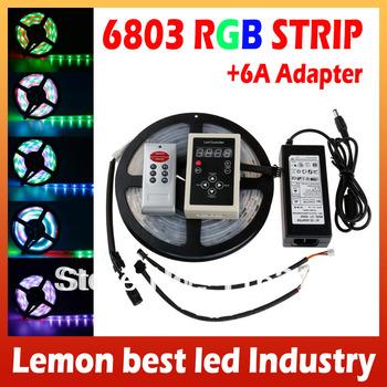 5M 6803 LED RGB Strip  IC Model 5050 Digital Dream Magic Color Tube Waterproof IP67+ RF6803 Controller + 6A Transformer