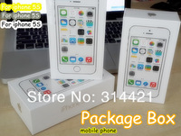 10pcs/lot free shipping DHLMobile phone UK version Package Box for iPhone 5S Packing with full Accessories