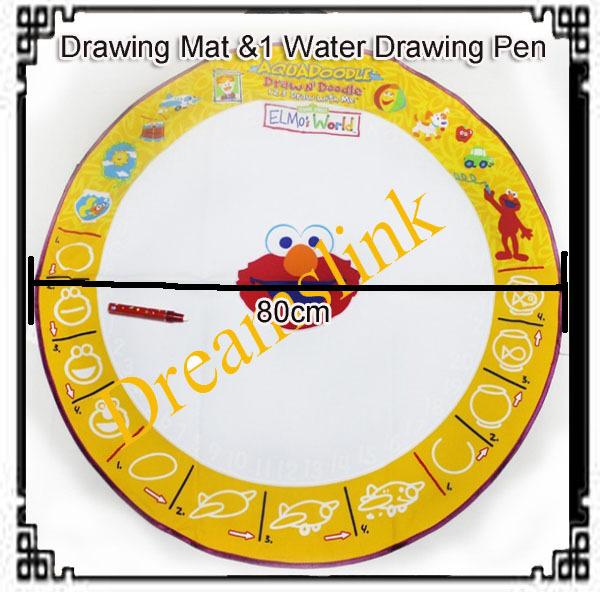 2013 New Aquadoodle Drawing Mat &1 Water Drawing Pen / Magic Water Drawing Toy Wholesale + Free Shipping Diameter 80 CM 100pcs(China (Mainland))