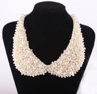 Korean sweet wild fake imitation pearl collar beads chocker necklace sc9030-wholesale&retail