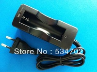 100pcs/lot New Portable 18650 Li-ion Rechargeable Battery AC Charger EU Black TK0027++Shipped By DHL takes only 3~5days