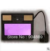 NEW LED  light AAA battery+solar automatic darkening welding mask/helmet  weld goggles/eye protection mask's filter/lens
