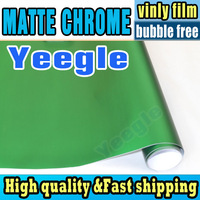 FREE SHIPPING 2014 NEW DESIGN Premium Metallic Matte Chrome Vinyl Wrapping  / Size: 1.52 m x20 m / High Quality Chrome Vinyl