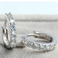 Earrings For Women 2014,S925 Sterling Silver with Austria Crystal,SWA Elements,3 Layer Platinum Plated OE32