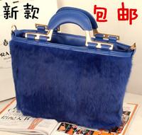 1111 fur bag portable bag messenger bag female 2013 women's handbag rabbit fur women's handbag