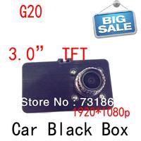 New Free shipping Original Blackview 1080P Full HD Car DVR G2W DVR + G-sensor+ H.264 + HDMI + Enhanced IR Night Vision G20