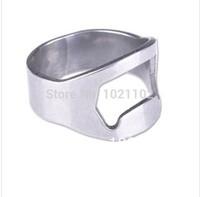 Free Shipping 100pcs/lot Stainless Steel Beer Bar Tool Finger Ring Bottle Opener