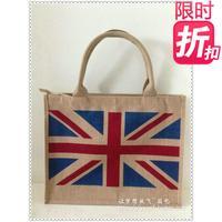 free shipping frshion flag torx bags women's handbag 2013 corchorus hemp shopping bag fashion bag eco-friendly bag unique