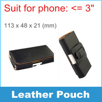 Only Black color! Leather Case Belt Clip Pouch For Hot sale Small phone For Nokia 107 515 1010 1050 1110 1200 SCH-E339
