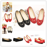 Free shipping new arrival star style sweet cute cat embroidery women flats casual shoes QFX034