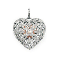 free shipping hot selling hot charm 2014 tms silver factory price ts0168 heart medal pendant