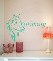 """ Custom Name Horse Equestrian "" Wall Decal Art Sticker Free Shipping"