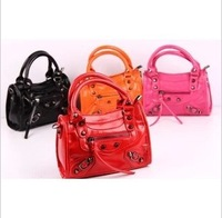 Retail 2013 new Children's classic Rivet Pu bags kid's hangbag Shoulder Bag Messenger Bag 4 colors Fashion girl's handbag