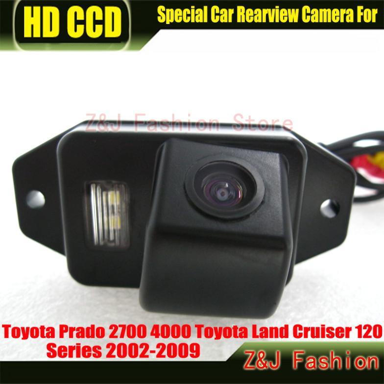 Reverse Parking Camera HD CCD Car Rear View Camera backup Camera for Toyota Land Cruiser 120 Series 02-09 Prado 2700 4000(China (Mainland))