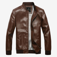 2013 New Fashion Motorcycle Leather Clothing Men's Leather Jacket Thickness Morality Locomotive Coat for Man 8 colors Big Size