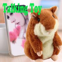 1pcs Hot Cute Speak Lovely Talking Hamster Plush Toy  Talking Sound Record Hamster Wholesale