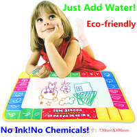 Free shipping 72X29cm 4 color Water Drawing Toys Mat Aquadoodle Mat&1 Magic Pen/Water Drawing board/baby play mat Christmas Gift