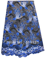 lace african cotton lace fabric african high quality african lace fabrics free shipping black and blue