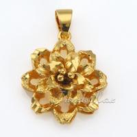 Womens Ladies Girls pendant Cut Flower 18K Gold Filled Pendant  wholesale fashion jewelry Promotion GP32