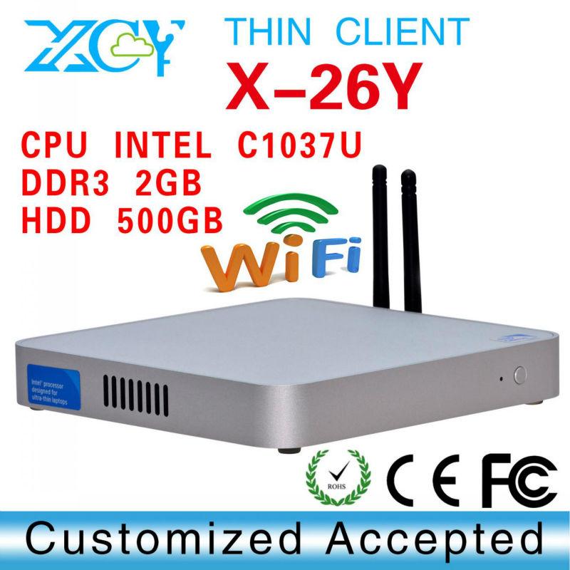 Aluminum computer case Mini ITX Case C1037U office pc XCY X-26Y htpc case aluminum micro atx case(China (Mainland))