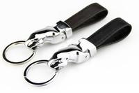Novelty Souvenir Men's Jewelry Leather Jaguar Keychain Parts Car Key Chain Personalized keychains Metal Trinket Valentine Gift