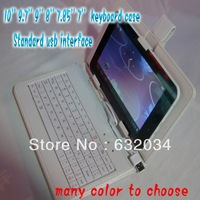 Free shipping Multicolour 10'' 9.7'' 9'' 8'' 7.85'' 7''  keyboard cover protective case for android tablet pc