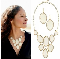 Free Shipping /S-D-J/  FIONA BIB NECKLACE+FIONA EARRING
