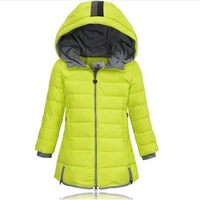 Retail Children's clothing Fashion children down jacket for girl autumn and winter medium-long down child outerwear